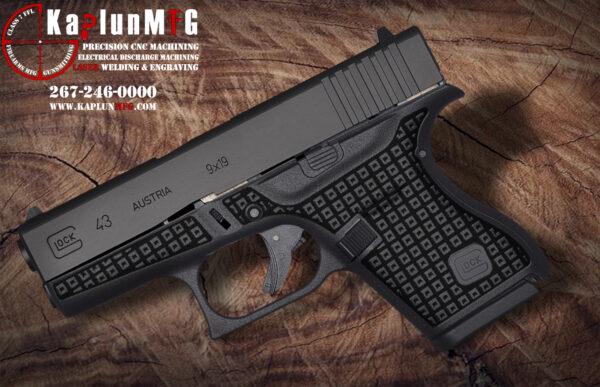 Glock 43 Laser Stippling Pattern T4