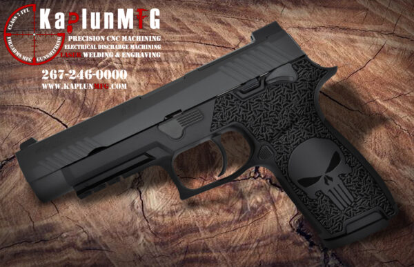 Sig P320 Laser Stippling Punisher Pattern